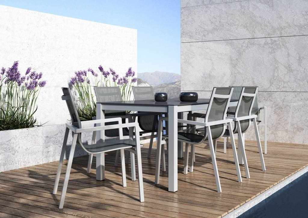 Aluminiowe meble na balkon komercyjny