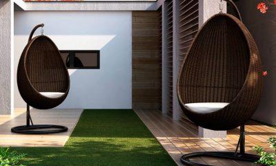 Fotel wiszący z technorattanu urozmaici przestrzeń tarasu